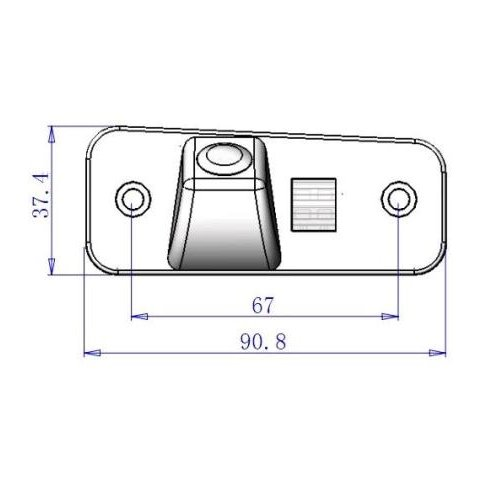 Cámara de visión trasera de coche para Hyundai Santa Fe New Vista previa  5