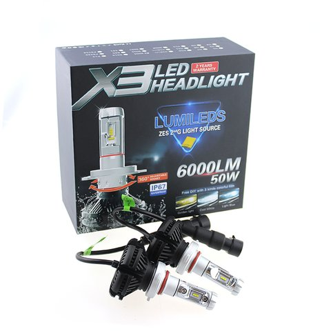 Car LED Headlamp Kit UP-X3HL-H1W-6000LM (H1, 6000 lm, cold white) Preview 1