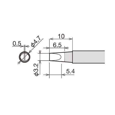 Паяльне жало Goot RX-80HRT-3.2D Прев'ю 1