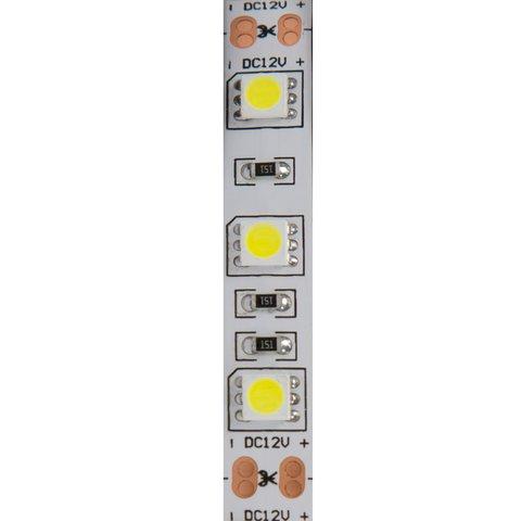 Світлодіодна стрічка SMD5050 (біла, 60 світлодіодів, 12 В DC, 1 м, IP65) Прев'ю 1