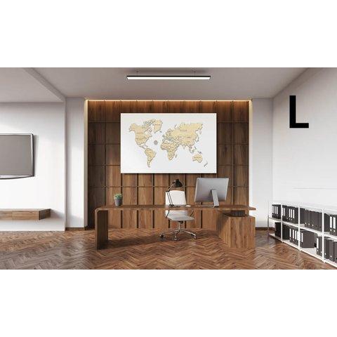 Деревянный 3D-пазл Wooden.City Карта мира (размер L)