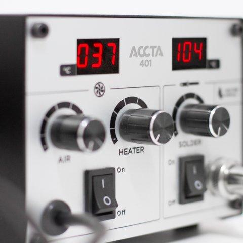 Estación de soldadura de aire caliente Accta 401A (110 V) Vista previa  2