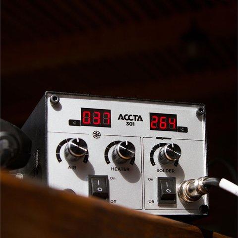 Estación de soldadura de aire caliente Accta 301A (110 V) Vista previa  8