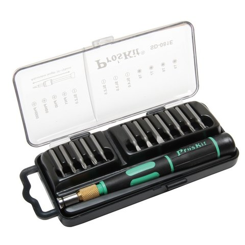 Screwdriver Pro'sKit SD-081E with Bit Set Preview 2
