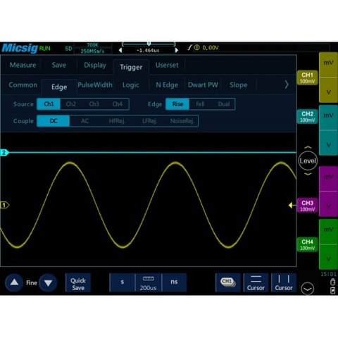 Tablet Digital Oscilloscope Micsig TO1074 Preview 5